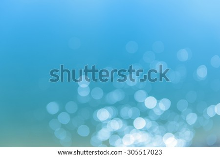 Abstract blue bokeh - stock photo