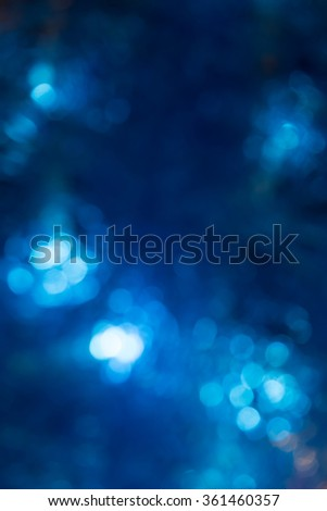 abstract blue bokeh backgroud for your design - stock photo