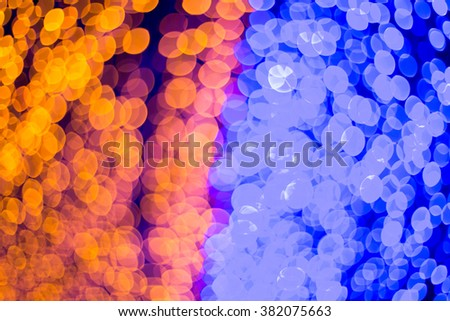 Abstract blue bokeh defocused lights background. - stock photo