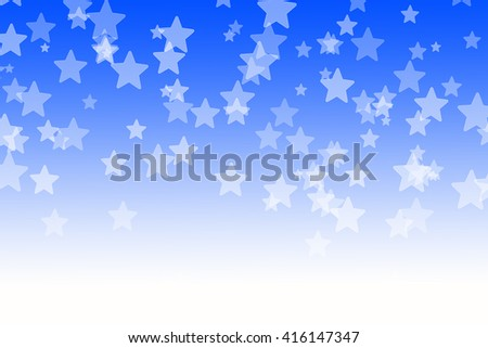 Abstract  blue bokeh stars background - stock photo