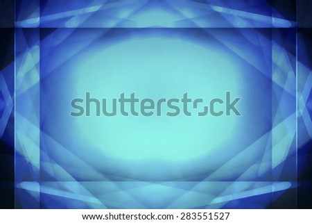 Abstract blue border background with centre highlight - stock photo