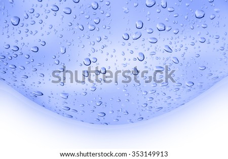 abstract  blue color  background   with  drop water - stock photo