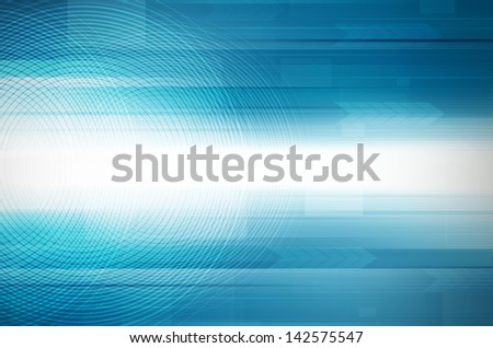 Abstract blue design Hi-Tech background. - stock photo