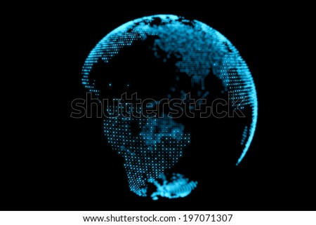 Abstract Blue Earth Globe Design Background - stock photo