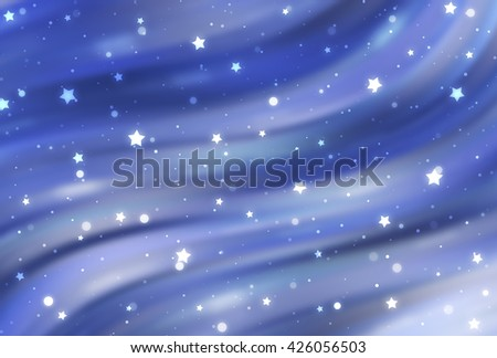 Abstract blue elegant background with glitter and waves - stock photo