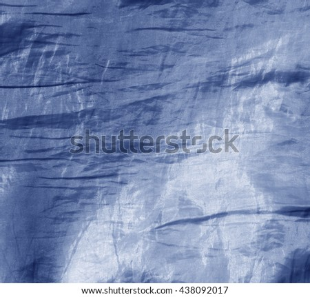 Abstract blue fabric texture. Background and texture for design - stock photo