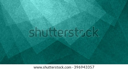 abstract blue green background, fine white textured parchment squares and blocks in random overlapping pattern - stock photo
