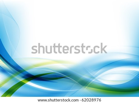 Blue Green Abstract Background Abstract Blue Green