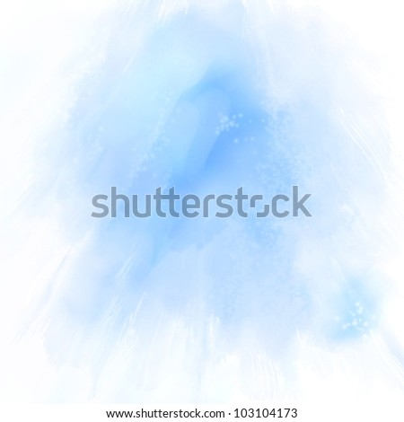 Abstract blue hand drawn oil  background, raster illustration - stock photo