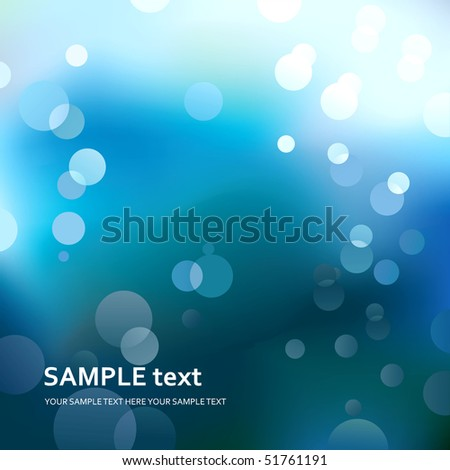 Abstract blue light background. - stock photo
