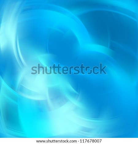 Abstract blue light background with blurred lines - stock photo