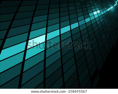 Abstract  blue light stripe mosaic background. - stock photo
