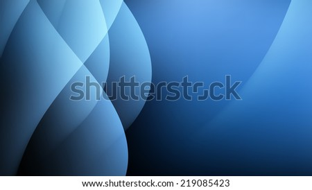 Abstract Blue Light Waves Sky Background Illustration - stock photo