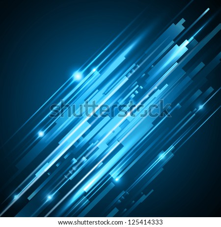 abstract blue lights backgrounds - JPG VERSION - stock photo