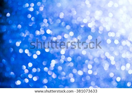 Abstract blue lights on background - stock photo