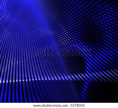 abstract blue lines background - stock photo