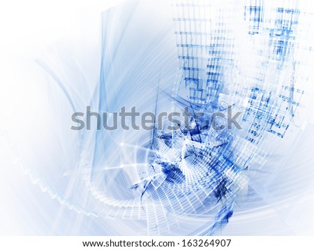 Abstract blue over white background - stock photo