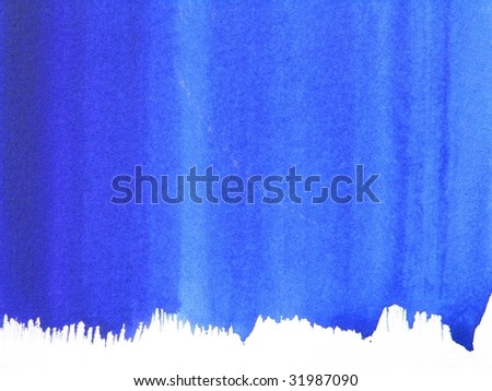 abstract blue paint background - stock photo