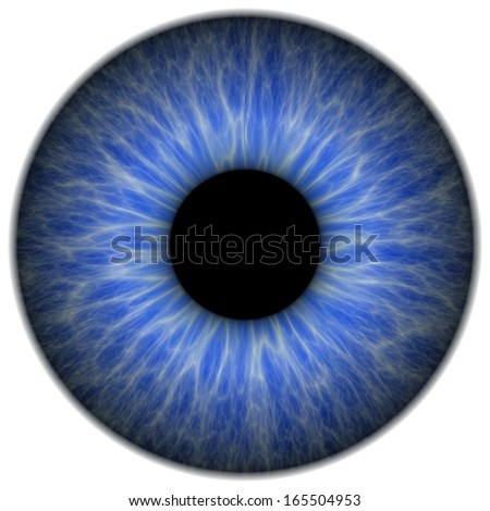 Abstract blue pupil - stock photo