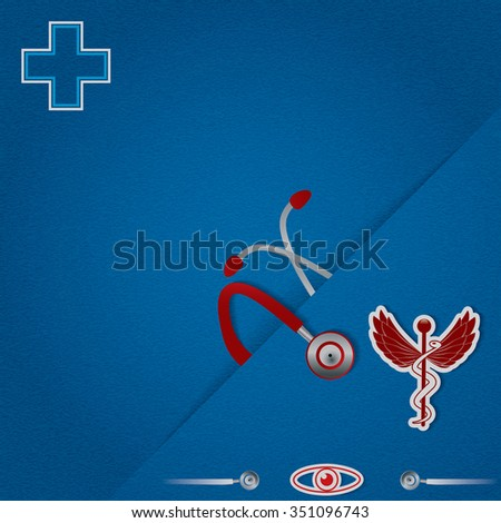 Abstract blue red medical background - stock photo