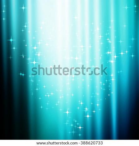 Abstract blue shiny background. - stock photo