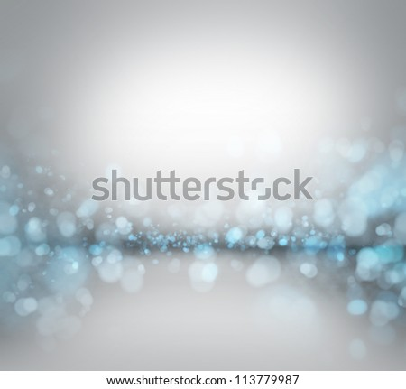 Abstract blue silver winter background - stock photo