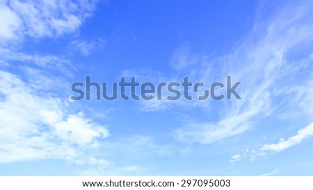 Abstract blue sky and clouds. - stock photo