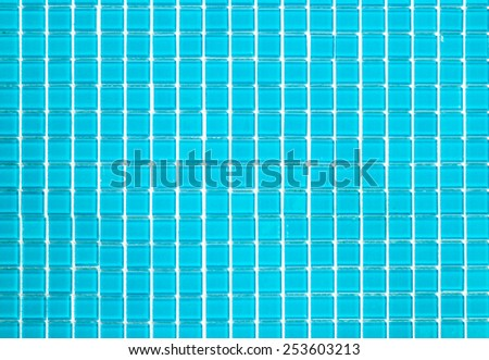 abstract blue tile background - stock photo