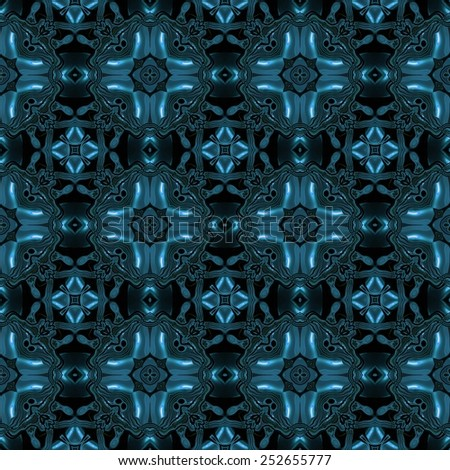 Abstract blue transparent metal like texture made seamless - stock photo