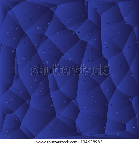 Abstract Blue Triangle Background, Raster Version - stock photo