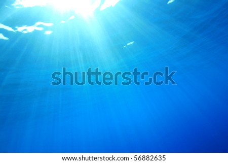 Abstract Blue Water Background - stock photo