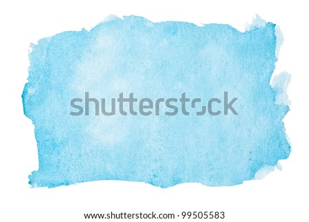 Abstract blue watercolor background. - stock photo