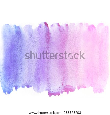 Abstract blue watercolor blot background. Pastel aquarelle colorful texture.  - stock photo
