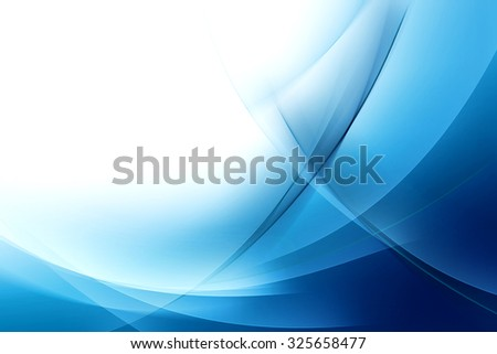 Abstract Blue Wave Background - stock photo