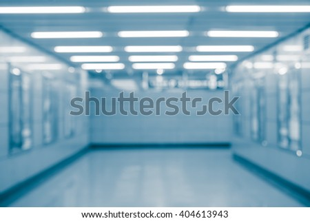 Abstract blur background from building hallway corridor - stock photo