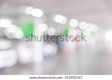 Abstract blur car parking lot for background, Blur parking with cars. - stock photo