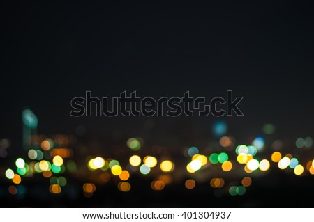 Abstract blur city night light.background - stock photo