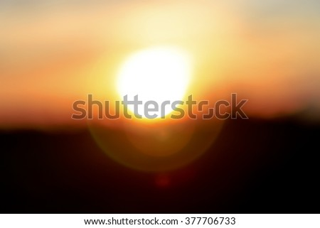 Abstract blur light season Sunbeams passing through clouds - stock photo