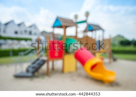 Abstract blur outdoor children playground background - stock photo