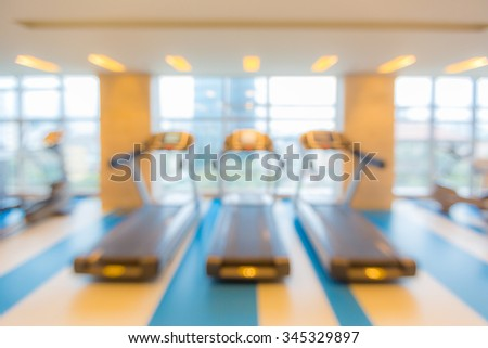 Abstract blurred background: fitness gym club  - stock photo