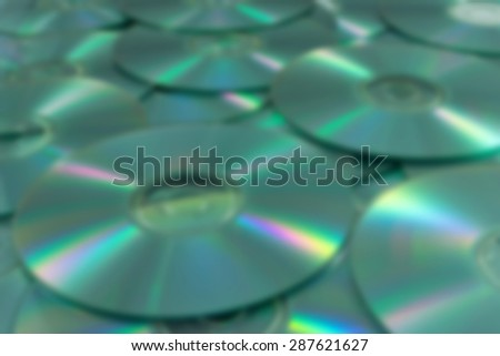 Abstract blurred, Background of compact disks or dvds - stock photo