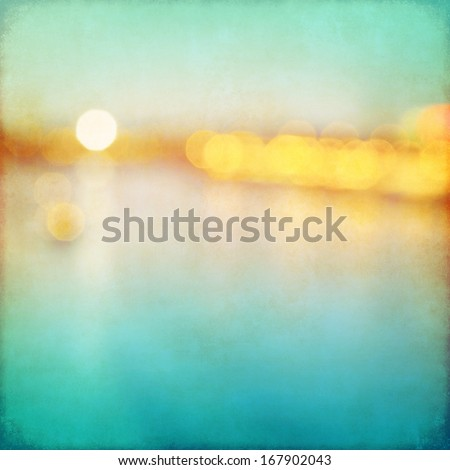 Abstract blurred cityscape background with bokeh effect. Grunge and retro style. - stock photo