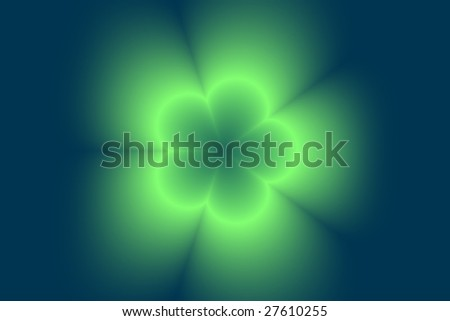 Abstract blurred digital flower background - stock photo