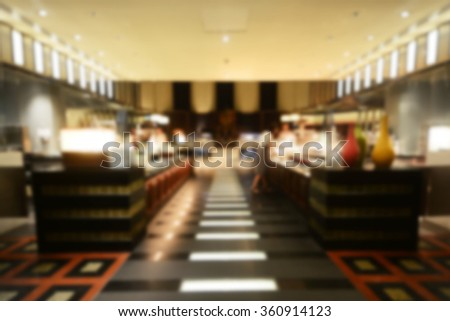 Abstract blurred image in a restaurant background - stock photo