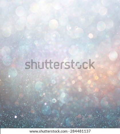 abstract blurred photo of bokeh light burst and textures. multicolored light.  - stock photo