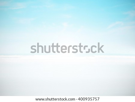Abstract blurred surfing wave on vacation summer ocean beach background . Blue water and sky bright. Nature wallpaper blur of sea daytime. View outdoor. - stock photo