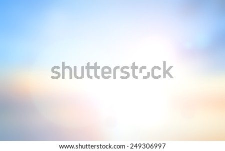 Abstract blurred textured background: yellow and blue patterns. Blurred nature background. Sandy beach backdrop with turquoise water and bright sun light. Summer holidays concept. - stock photo