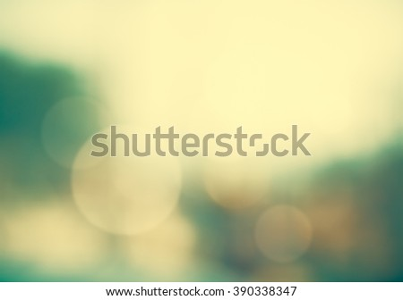 Abstract blurred view nature sea and bird in sky , circle bokeh background. bokeh defocused lights and shadow ,Blur dark tone multicolor light vintage concept - stock photo