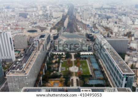 Abstract Blurry Background : Aerial view of metropolitan city - stock photo