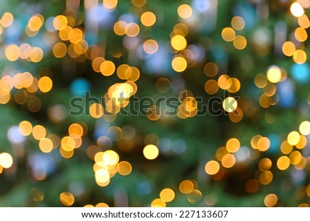 Abstract blurry Christmas lights decoration background - stock photo